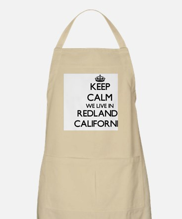 Keep calm we live in Redlands California Apron