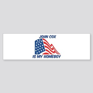 JOHN COX is my homeboy Bumper Sticker