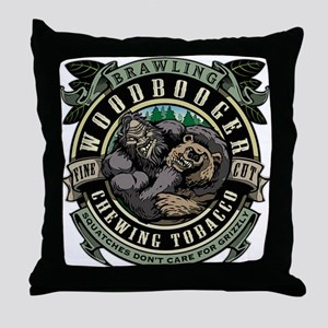 Brawling Woodbooger Chewing Tobacco Throw Pillow