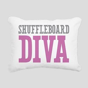 Shuffleboard DIVA Rectangular Canvas Pillow