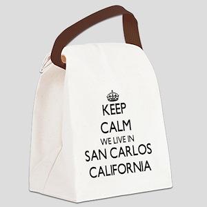 Keep calm we live in San Carlos C Canvas Lunch Bag