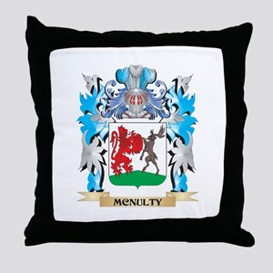 Mcnulty Coat of Arms - Family Crest Throw Pillow