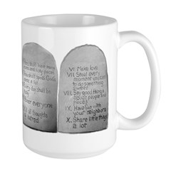 Mo's 10 Commandments Large Mug