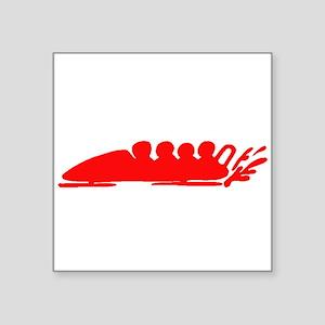 Red Bobsledding Sticker