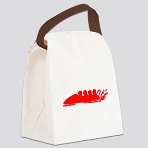 Red Bobsledding Canvas Lunch Bag