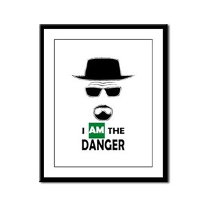 I Am The Danger Framed Panel Print