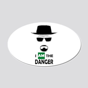 I Am The Danger 20x12 Oval Wall Decal