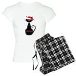 Meow Christmas Cat Black Pajamas