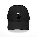 Meow Christmas Cat Black Baseball Hat