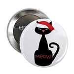 Meow Christmas Cat Black 2.25