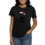 Meow Christmas Cat Black T-Shirt