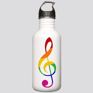 Rainbow Music G Clef Stainless Water Bottle 1.0L