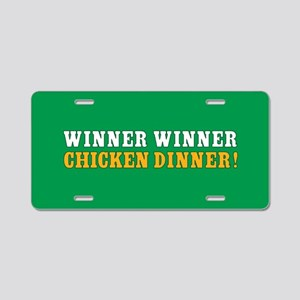 Winner Winner Chicken Dinner Aluminum License Plat