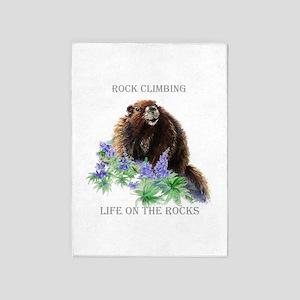 Rock Climbing Marmot Life On The 5'x7'area Rug