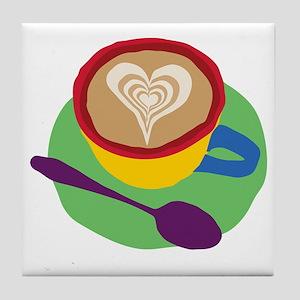 Coffee Heart Tile Coaster