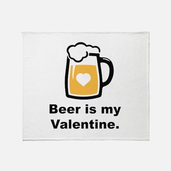 Beer Is My Valentine Stadium Blanket