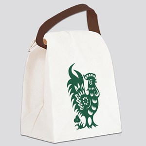 Rooster Chinese Astrological Zodi Canvas Lunch Bag