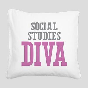 Social Studies DIVA Square Canvas Pillow