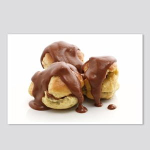 three profiteroles Postcards (Package of 8)