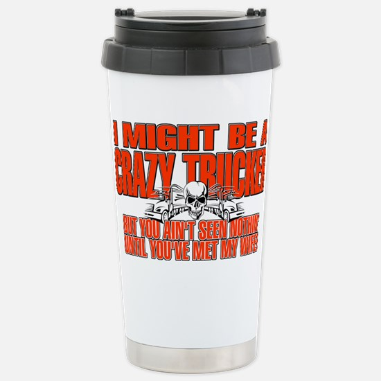 Crazy Trucker Stainless Steel Travel Mug