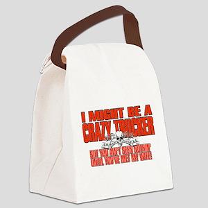 Crazy Trucker Canvas Lunch Bag