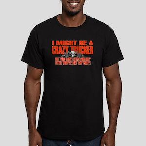 Crazy Trucker Men's Fitted T-Shirt (dark)