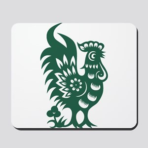 Rooster Chinese Astrological Zodiac Sign Mousepad