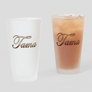 Gold Tama Drinking Glass