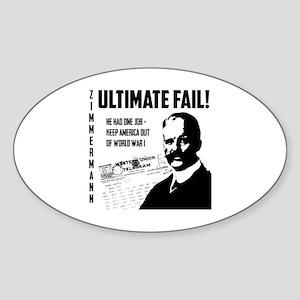 Zimmermann Fail! Sticker (Oval)