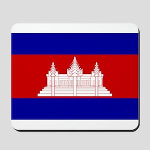 Cambodia Flag Mousepad