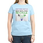 Bicycle Recycle Women's Light T-Shirt