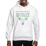 Bicycle Recycle Hooded Sweatshirt
