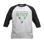 Bicycle Recycle Kids Baseball Jersey