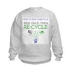 Bicycle Recycle Kids Sweatshirt