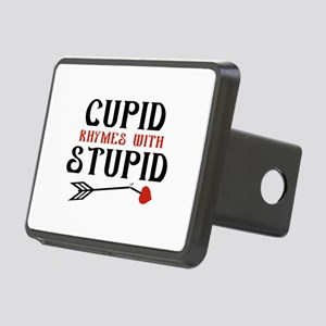 Cupid Rhymes With Stupid Rectangular Hitch Cover