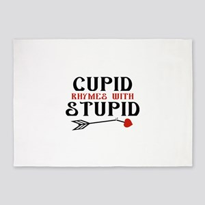 Cupid Rhymes With Stupid 5'x7'Area Rug