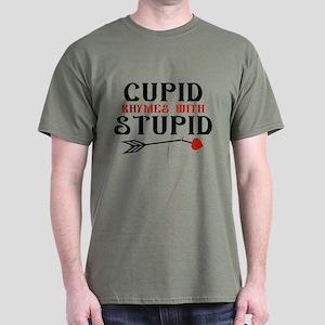 Cupid Rhymes With Stupid Dark T-Shirt
