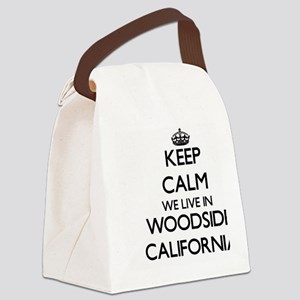 Keep calm we live in Woodside Cal Canvas Lunch Bag