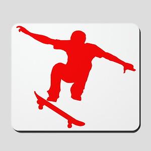 Red Skateboarder Mousepad