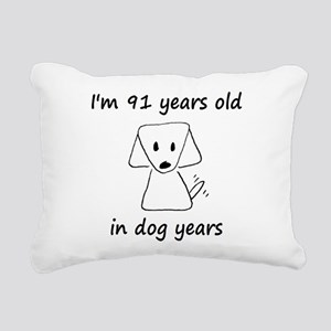 13 dog years 6 Rectangular Canvas Pillow