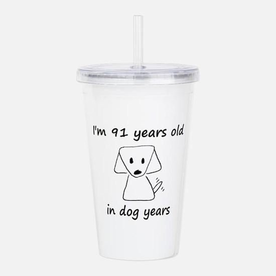 13 dog years 6 Acrylic Double-wall Tumbler