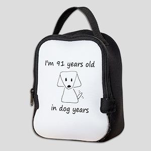13 dog years 6 Neoprene Lunch Bag