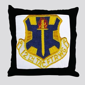 12TH TACTICAL FIGHTER WING Throw Pillow