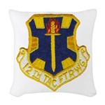 12TH TACTICAL FIGHTER WING Woven Throw Pillow