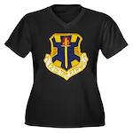 12TH TACTICA Women's Plus Size V-Neck Dark T-Shirt