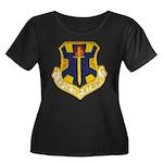 12TH TAC Women's Plus Size Scoop Neck Dark T-Shirt