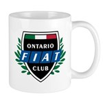 Ontario Fiat Club Logo Mugs