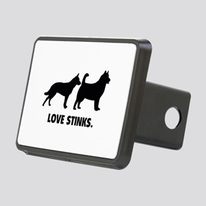 Love Stinks Rectangular Hitch Cover