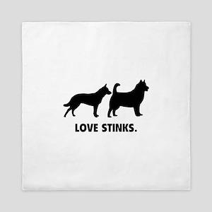 Love Stinks Queen Duvet