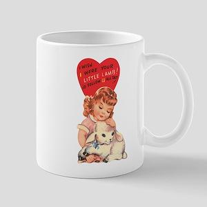 Vintage little lamb illustration Mugs
